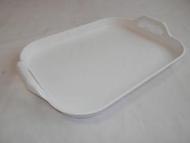 Műanyag füles tálca 43x33 cm fehér