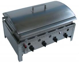BGT-4 négyégős asztali kukorica főző rozsdamentes tálcával és fedővel, PB-gáz üzemű