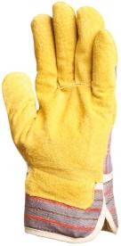 Bőr rakodókesztyű marhahasíték tenyérbéléssel, sárga (204)