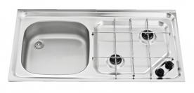 Dometic beépíthető gázfőzőlap + mosogató MO921L, PB-gáz üzemű