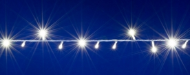 Home LED-es fényfüzér hidegfehér, sorolható (DLI 200/WH)