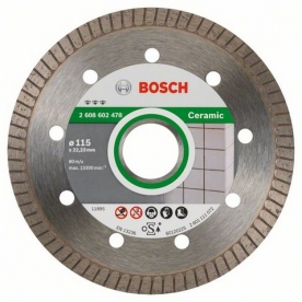 Bosch Best for Ceramic extraclean Turbo gyémánt darabolótárcsa Kerámia , 115-22,23 (2608602478)