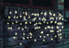 Home LED-es fényfüggöny melegfehér, sorolható kültéri (KTF 100/WW)