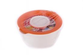 Keverőtál műanyag, kettős tetővel 3 l narancs
