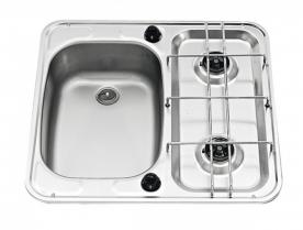 Dometic beépíthető gázfőzőlap + mosogató MO927L, PB-gáz üzemű
