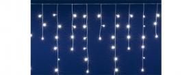 Home LED-es fényfüggöny hidegfehér, sorolható (DLFJ 200/WH)