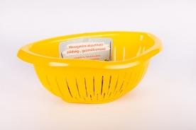 Mosogatóra akasztható műanyag gyümölcsmosó -Sárga