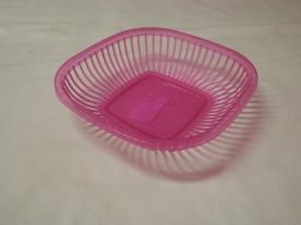 Kenyérkosár, műanyag 25x25 cm pink