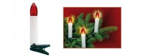 Home gyertya fényfüzér piros, csiptetős (KI 16/RD)