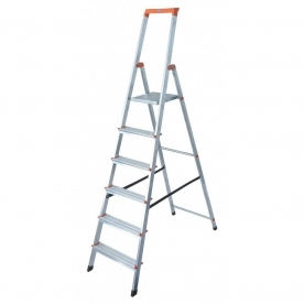 Krause Monto Solidy állólétra 6 lépcsőfokos (126245)