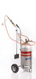 Multifunkciós gázégő kézikocsival (gyomégető)
