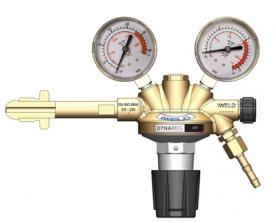 Iweld Dynareg levegő palack nyomáscsökkentő 230/10 bar, 2 manométerrel