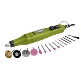 Extol Craft mini köszörű és fúrógép készlet, 18 V adapterrel (404122)