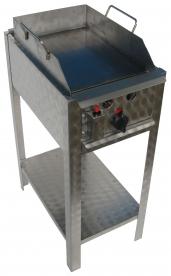 BGS-1 egyégős álló sütő egyoldalú rostlappal, földgáz üzemű