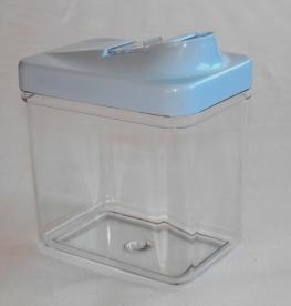 Szögletes műanyag fűszertartó 1 kg-os