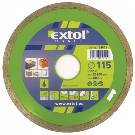 Extol Craft gyémántvágó csempevágáshoz ,vizes vágásra 115x2,2x22,2 mm(108831)
