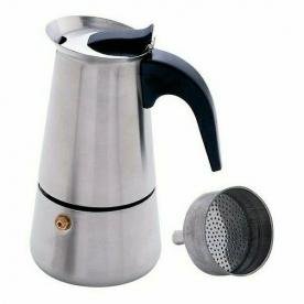 Kávéfőző 4 személyes kotyogós, rozsdamentes (28012)