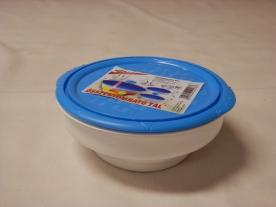 Összenyomható tál, műanyag 0,9 liter kék