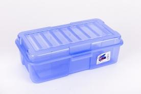 Univerzális átlátszó műanyag doboz 4,0 l-kék